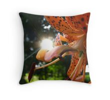 Light of the World on Her Petal Throw Pillow