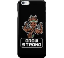 Groot Grow Strong Galaxy Gym Fitness Mashup iPhone Case/Skin