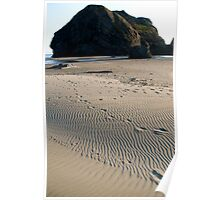 Oregon coast at dusk Poster