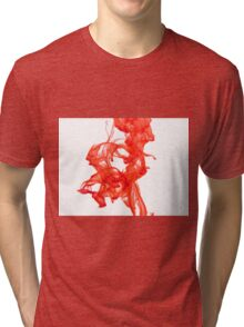 Red water drop Tri-blend T-Shirt