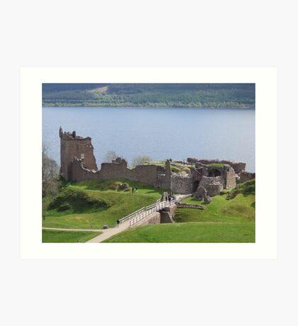 urquhart castle loch ness Art Print
