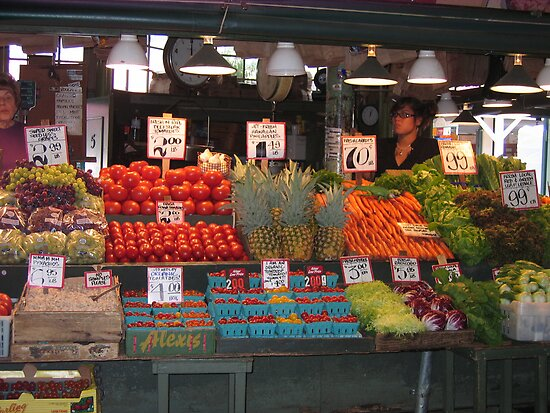 Color in Pike Place Market by Pat Yager