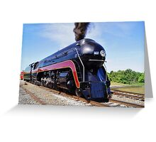 """Norfolk and Western Class """"J"""" # 611 Locomotive after restoration Greeting Card"""