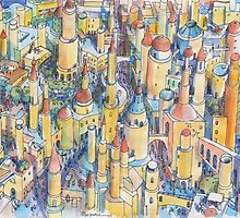 Citta' di Fantasia by Luca Massone  disegni
