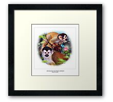 RED-BACKED SQUIRREL MONKEY 3 Framed Print