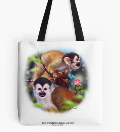 RED-BACKED SQUIRREL MONKEY 3 Tote Bag