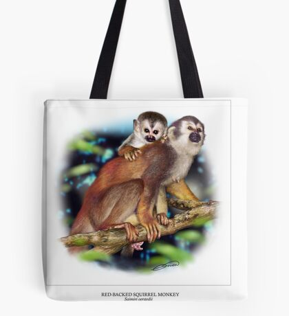 RED-BACKED SQUIRREL MONKEY 4 Tote Bag