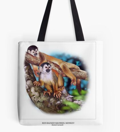 RED-BACKED SQUIRREL MONKEY 6 Tote Bag