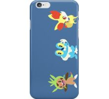 pokemon froakie fennekin chespin anime shirt iPhone Case/Skin