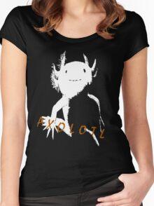 Axolotl (White) Women's Fitted Scoop T-Shirt