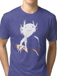Axolotl (White) Tri-blend T-Shirt