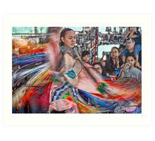 Fancy Shawl  Dance (Pow Wow Series) Art Print