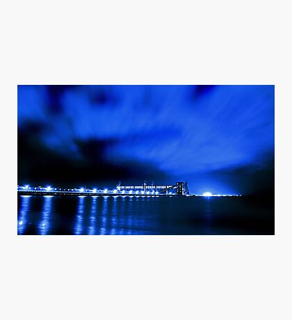 Kwinana Grain Jetty At Night  Photographic Print