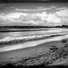 Clouds over Apollo Bay in monochrome by Elana Bailey