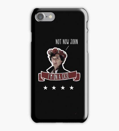 Sherlock on a case iPhone Case/Skin