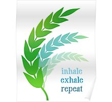 Inhale Exhale Repeat Poster