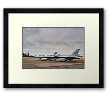 F-16's Framed Print