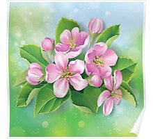Pretty Pink Blooms Poster