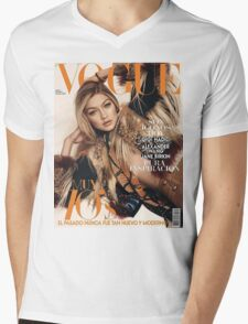 Gigi Hadid Vogue Cover Mens V-Neck T-Shirt