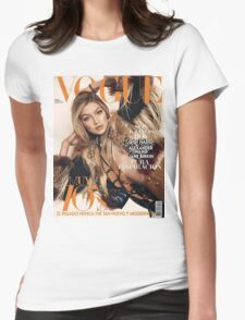 Gigi Hadid Vogue Cover Womens Fitted T-Shirt