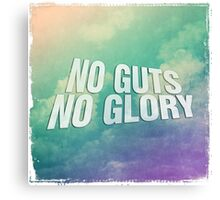 No guts no glory sky skies blue air plane airforce Canvas Print