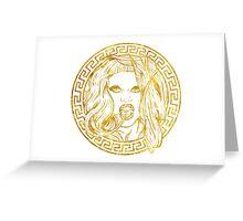 Gaga Versace Greeting Card