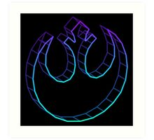 Rebel Alliance 3D Serene Art Print