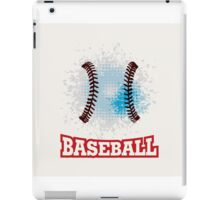 Vector grunge baseball  iPad Case/Skin