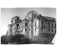 Darul Aman Palace Morning Black and White Poster