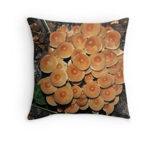 Loads of fungi Throw Pillow