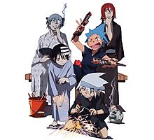 Fireworks with Soul Eater  Photographic Print