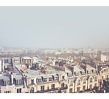 Paris Morning Rooftops Photographic Print