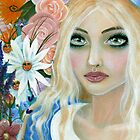Alice in the Garden of Live Flowers by KimTurner
