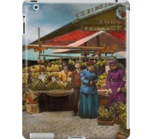 City - Lexington market, Baltimore, Maryland 1890 iPad Case/Skin