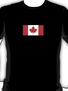 Canadian Flag - National Flag of Canada - Maple Leaf T-Shirt Sticker T-Shirt