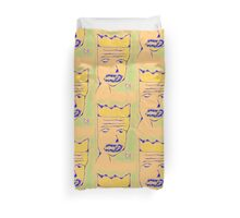 """""""The King of Bad News"""" by Richard F. Yates Duvet Cover"""