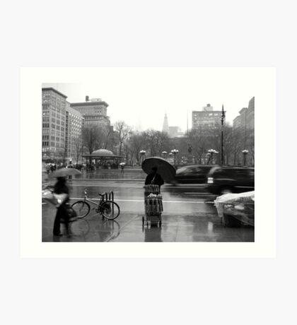 Union Square in the rain Art Print