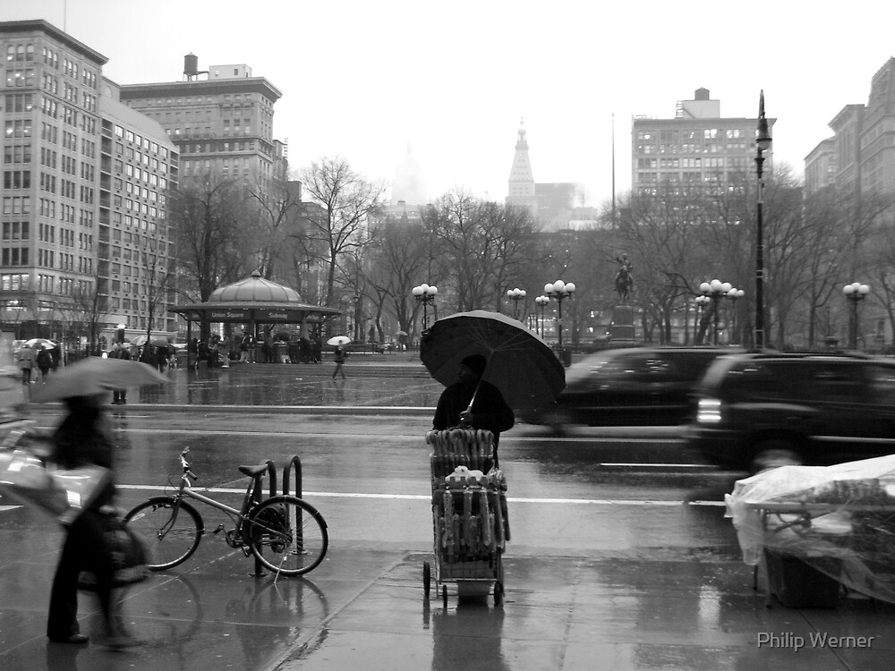 Union Square in the rain by Philip Werner