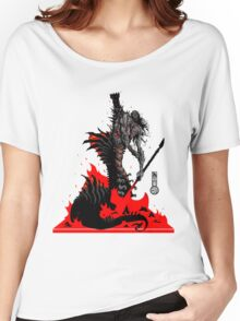 The Game of Kings, Wave Six: The Black Queen's Rook Women's Relaxed Fit T-Shirt
