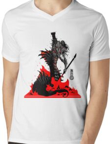 The Game of Kings, Wave Six: The Black Queen's Rook Mens V-Neck T-Shirt
