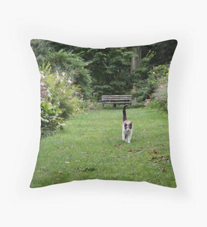Stroll in the Garden Throw Pillow
