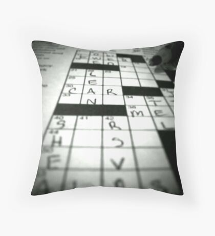 Crossword Mania Throw Pillow