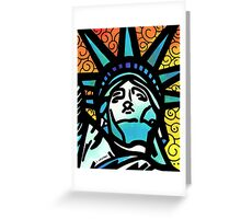Lynne Neuman Statue of Liberty #et0098 Greeting Card