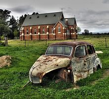 Austin A40, at Oxley, Victoria by ripphotos