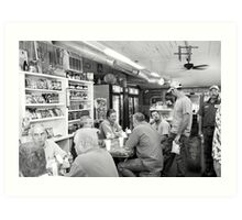 Eating Lunch at Depot Bottom Country Store Art Print