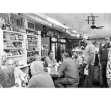 Eating Lunch at Depot Bottom Country Store Photographic Print