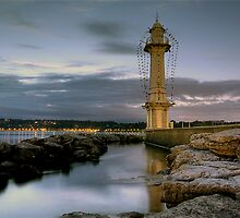 Lighthouse at the Bains des Paquis by David Freeman