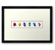 Gems on  Gems on Gems Framed Print