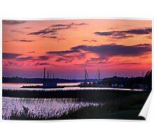 Sunset in Dryden, Ontario Poster