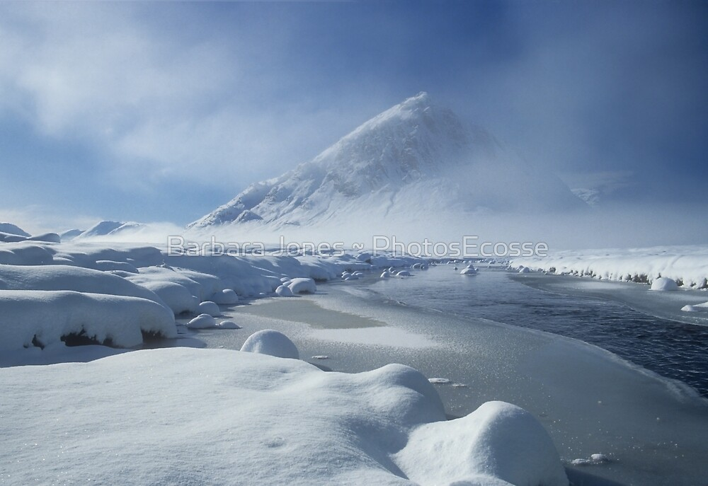 Buachaille Etive Mhor and Winter Snow, Glen Coe,Scotland. by PhotosEcosse